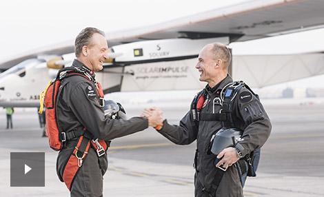 video André Borschberg en Bertrand Piccard