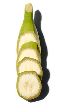 Biologische groene banaan